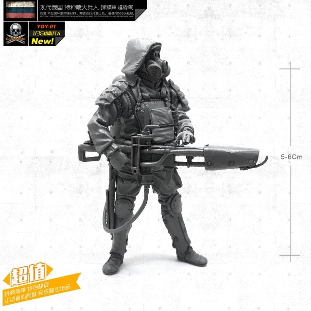 1/35 Resin Soldier Figures  Modern Biochemical Firefighters  Model Kits Unmounted YOY-01