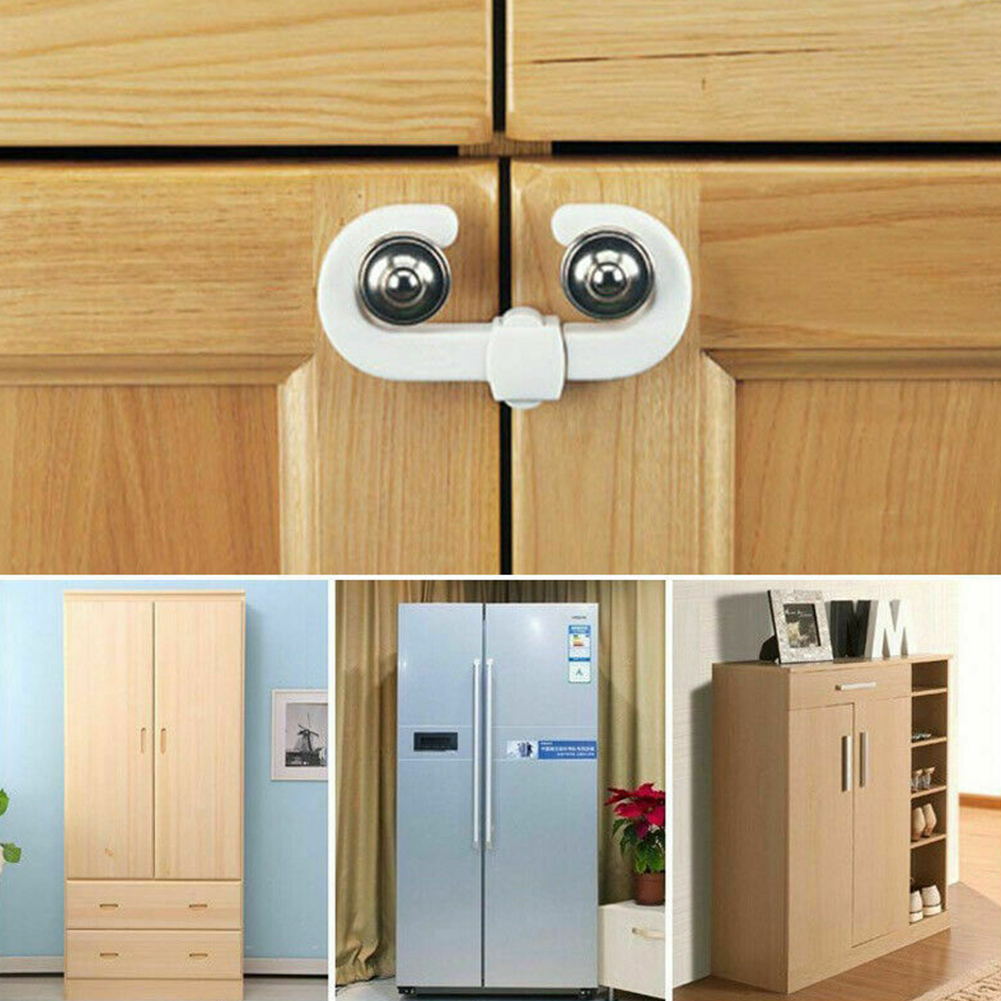 4 Pcs Stretchable Multifunction Kids Cupboard Cabinet Baby Protection Punch Free Guard Sliding Safety Lock Easy Install Door