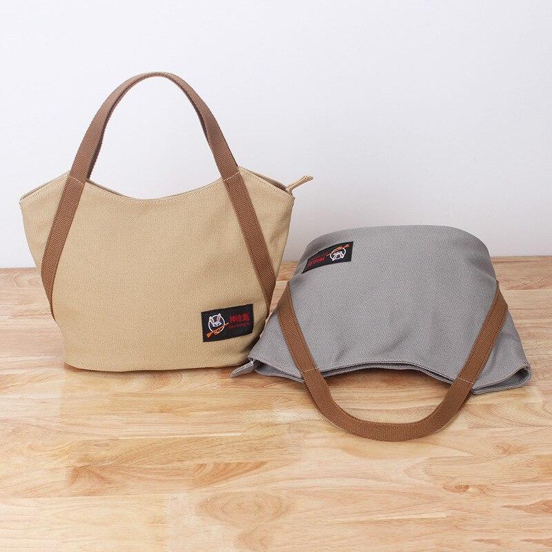 17 New Style WOMEN'S Bag Handbag Solid Color Canvas Bag Casual Fabric Small Carrying Bag Fresh Versatile Coin Pocket Diaper Bag