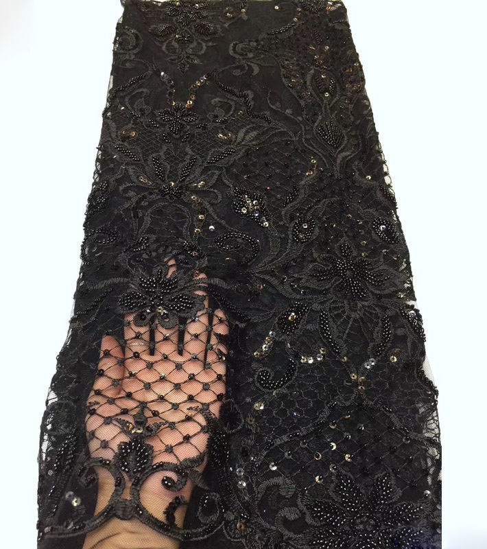 Heavy Luxury Handmade Beads Weave Fashion Embroidery Dress Wedding Lace