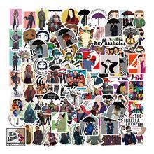 100pcs Umbrella Academy American Drama Personality Stickers PVC Graffiti Stickers Suitcase Luggage Guitar Waterproof Sticker