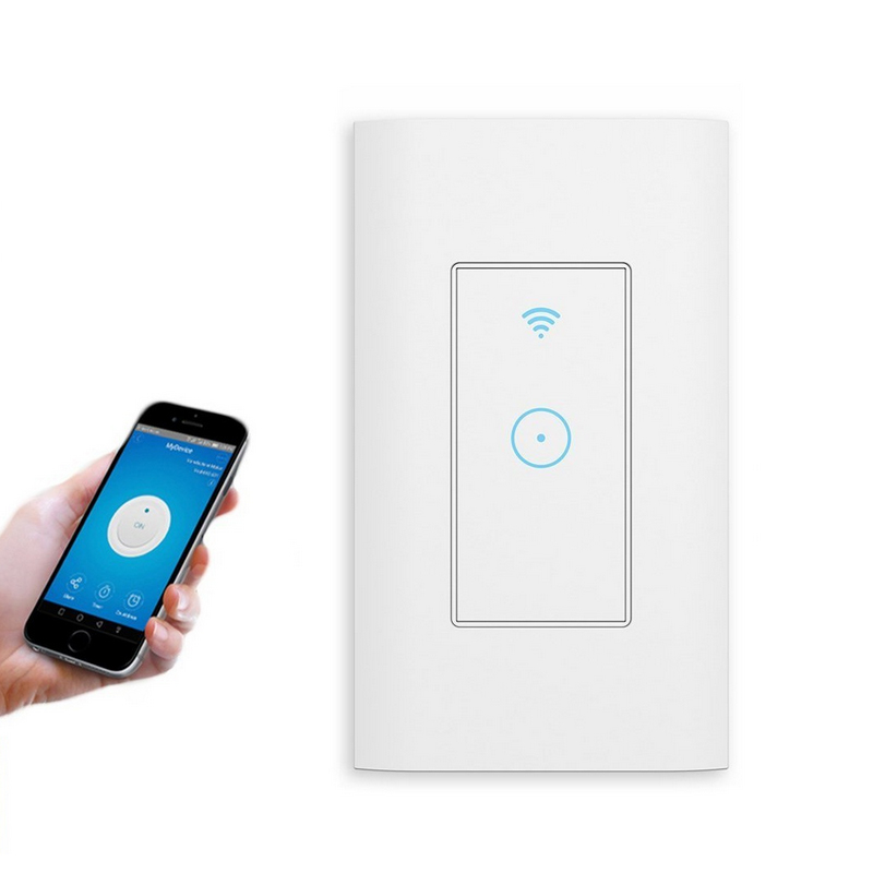 Smart Light Switch Remote Control Compatible Voice Control Set The Timing Smart Home Control Light For US Standard Switch Boxes