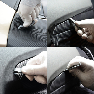Image 4 - Ehdis 3個の炭素繊維ラップスクレーパーツール車スキージ自動クリーニングガラス窓ビニールリムーバーツール