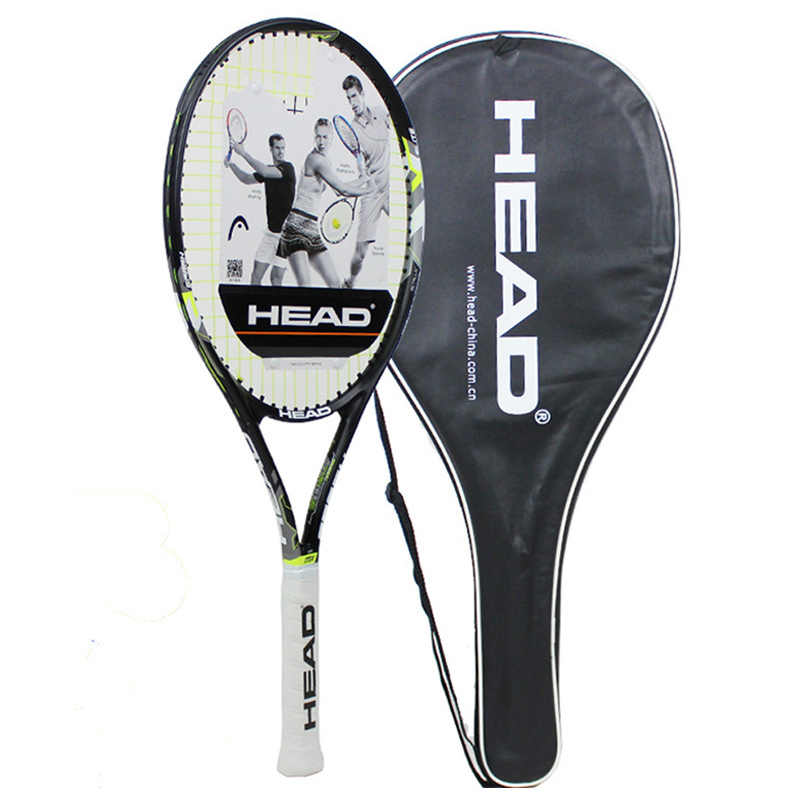 Professional Tennis Racket Head Carbon Padel Racquet Tenis Paddle Rackets String Overgrip Original Bag For Men Women Beginners