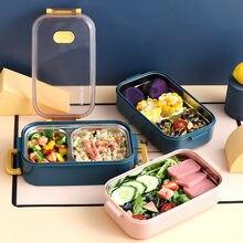 Caixa de almoço de aço inoxidável isolado recipiente comida estudante escola piquenique microondas bento caixa café da manhã boxe lunchbox utensílios de mesa