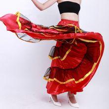 Танцевальная юбка с оборками многослойная эластичным поясом