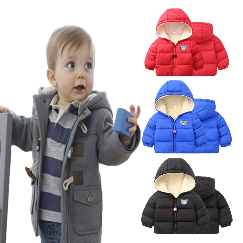Baby Boys Children Outerwear Coat Fashion Kids Jackets For Boy Girls Winter Jacket Warm Hooded Children Clothing