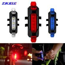 USB аккумулятор гора велосипед свет велосипед передний задний задний задний фонарь Велоспорт безопасность предупреждение свет водонепроницаемый лампа мигающий