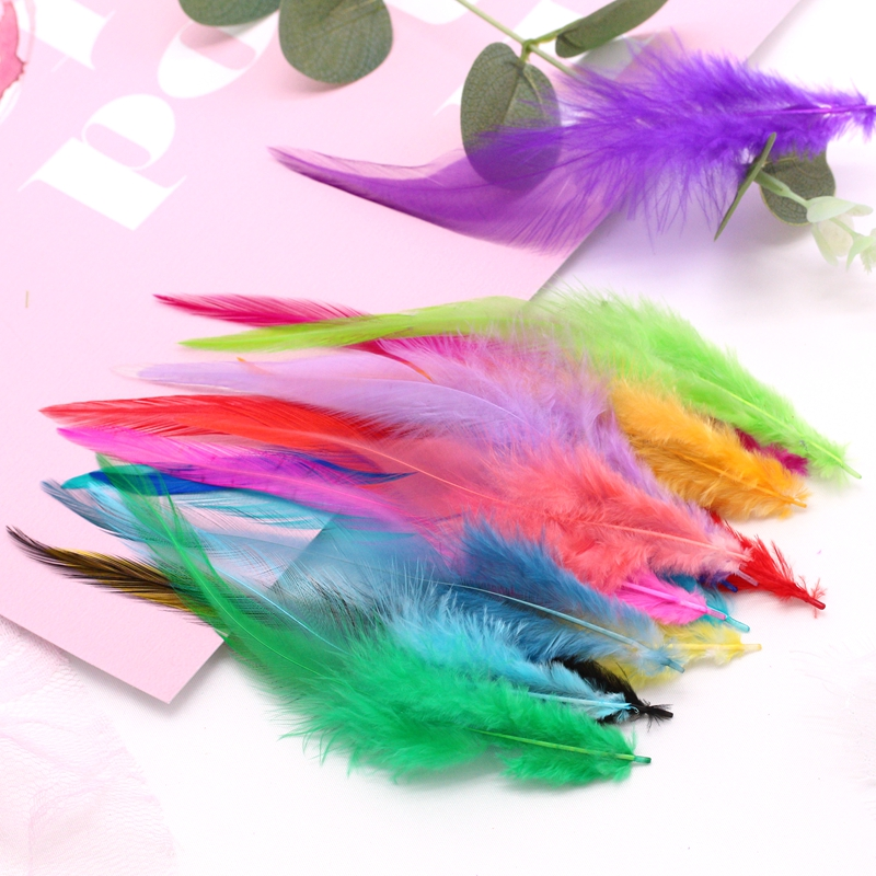 Pheasant-Feathers Plume Jewelry-Making-Accessories DIY Craft Dyed for 50pcs 4-6inches