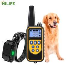 800m pet cachorro treinamento colar elétrico recarregável com display lcd para todo o tamanho ip67 à prova dip67 água controle remoto
