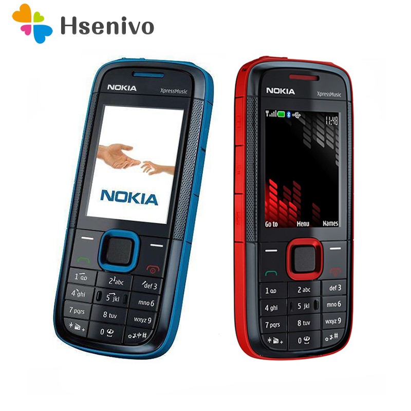 Original Nokia 5130 XpressMusic unlocked mobile phone Bluetooth FM russian keyboard support cell phone Free shipping