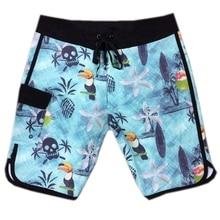 Шорты мужские пляжные эластичные, брендовые пляжные, быстросохнущие водонепроницаемые Бермуды, из спандекса, 4 стороны, 30-38