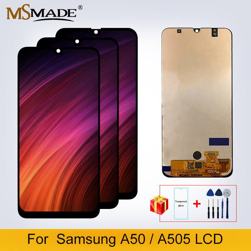Original LCD For Samsung Galaxy A50 2019 A505F/DS A505F A505FD A505A LCD Display Touch Screen Digitizer Replacement Parts image