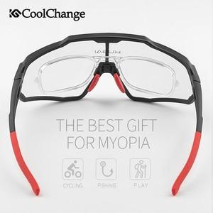 Image 4 - CoolChange Photochromic רכיבה על אופניים משקפיים ריצה חיצוני ספורט MTB אופני משקפי שמש UV400 גברים נשים כביש אופניים משקפי Eyewear