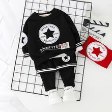 Baby Boy Clothes Spring 2020 New Children Clothing Sets Printing Stars Cotton Cute Baby Boy Outfit Costumes Baby Clothing Set anlencool free shipping attitude baby boy valley korean version of the leisure suit baby boy clothing set spring baby clothing