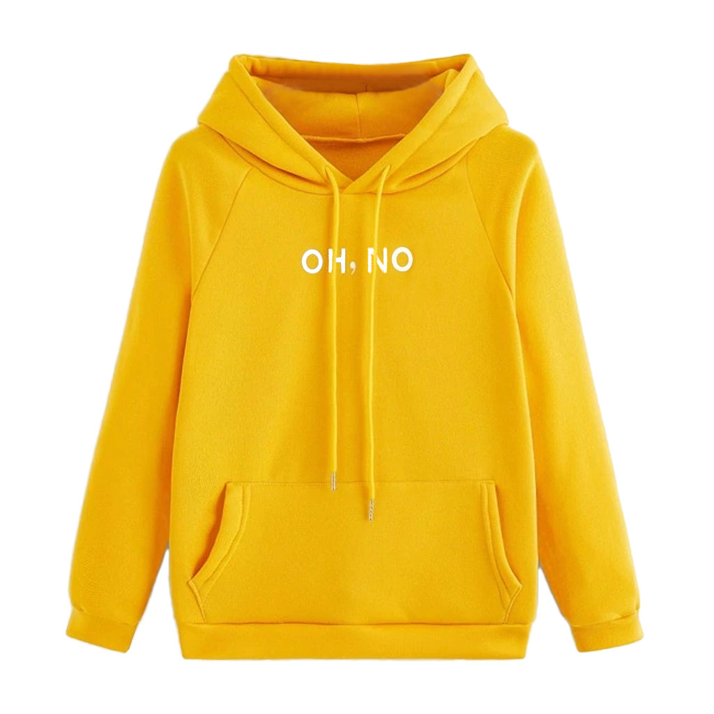 Warm Sweatshirts Autumn Winter Fleece Letters Harajuku Printed Pullover Loose Hoodies Women Pockets Blouses Shirts Coats 19Oct23