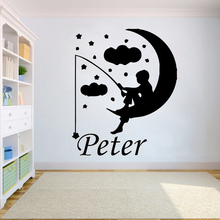 Custom name wall sticker for Kids Personalised Baby Wall decals Sticker Bedroom Kids Girls Boys Teenager Room decoration HY752 princess cartoon custom name girsl bedroom decoration beauty girls with name wall sticker interior nursery ornament sticker w266