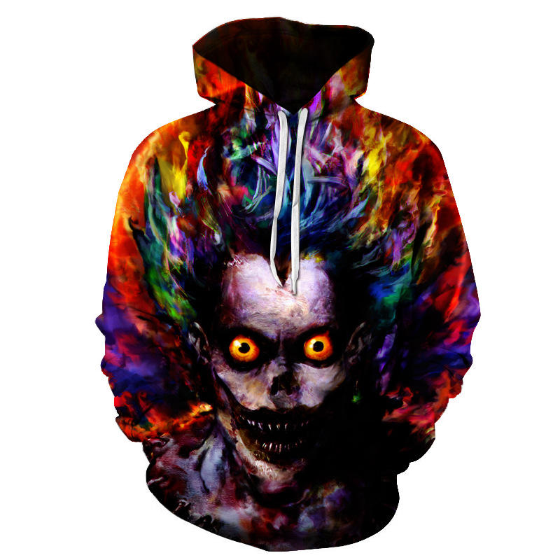 Bestselling Horror Movie Funny Clown Sweatshirt 3D Print Personalized Pattern Casual Brand Sports Hoodie Asian Size S-4XL image