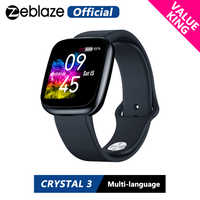 [Valor rei] nova zeblaze cristal 3 smartwatch wr ip67 freqüência cardíaca pressão arterial longa vida útil da bateria ips display colorido relógio inteligente