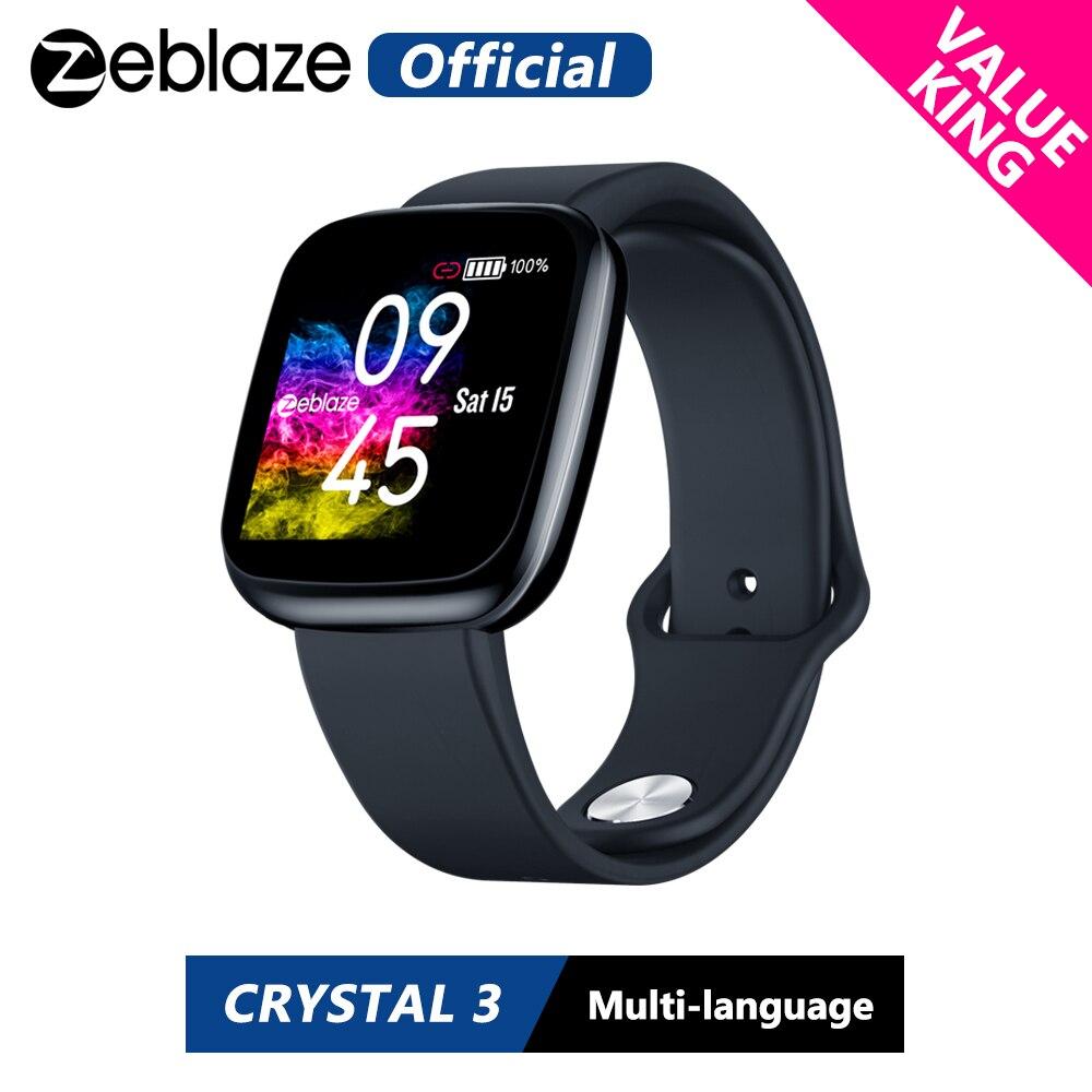 [Wert König] Neue Zeblaze Kristall 3 Smartwatch WR IP67 Herz Rate Blutdruck Lange Batterie Lebensdauer IPS Farbe display Smart Uhr
