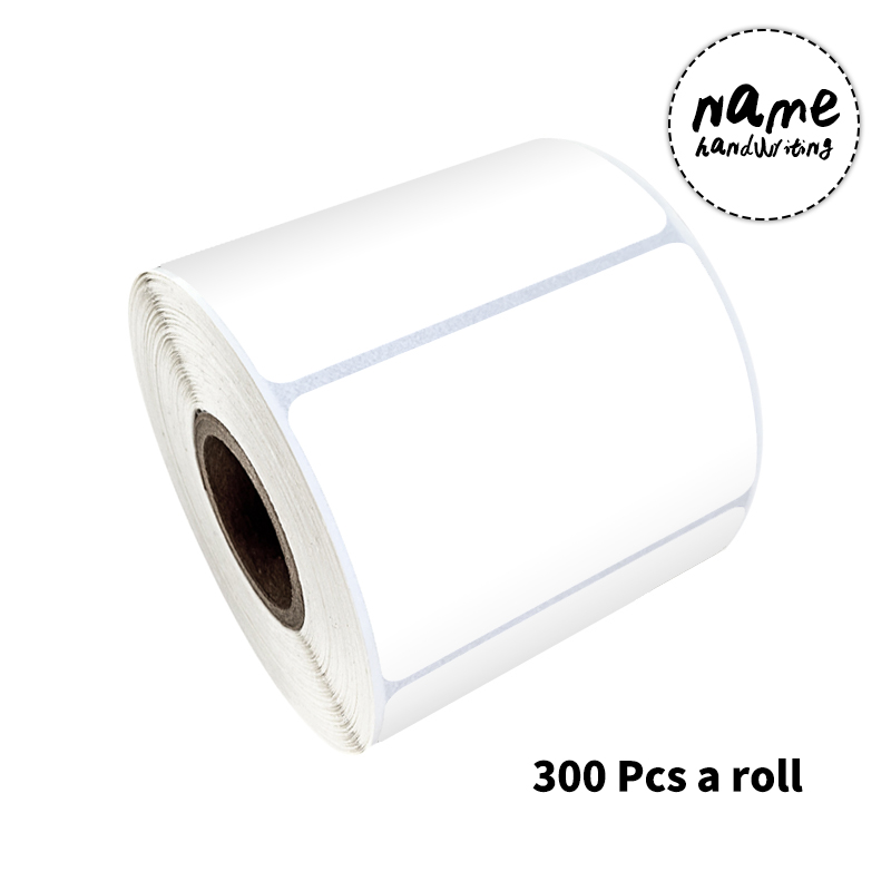 300 Pcs/roll 3.5 X 5.5 Cm White Blank Stickers for Waterproof Writing Stickers for Food Box Storage Box Stationery Seal Labels