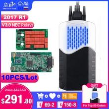 10PCS/Lot CDP tcs cdp pro V3.0 Double Green board Bluetooth 2015.R3 keygen OBDII scanner OBD 2 cars trucks scan diagnostic tool