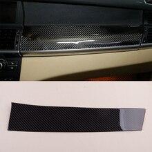 Carbon Schwarz Auto Dashboard Panel Abdeckung Aufkleber Fit für BMW X5 X6 E70 E71 2008 2009 2010 2011 2012 2013 links Hand Stick