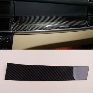 Image 1 - Carbon Schwarz Auto Dashboard Panel Abdeckung Aufkleber Fit für BMW X5 X6 E70 E71 2008 2009 2010 2011 2012 2013 links Hand Stick