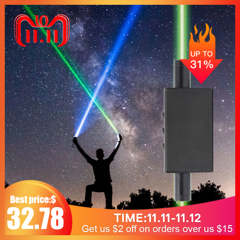 High Quality Green Laser Pointer Sword Laser Stage Show Light 532nm Dot Beam Adjustable Flashlight For DJ Party Club