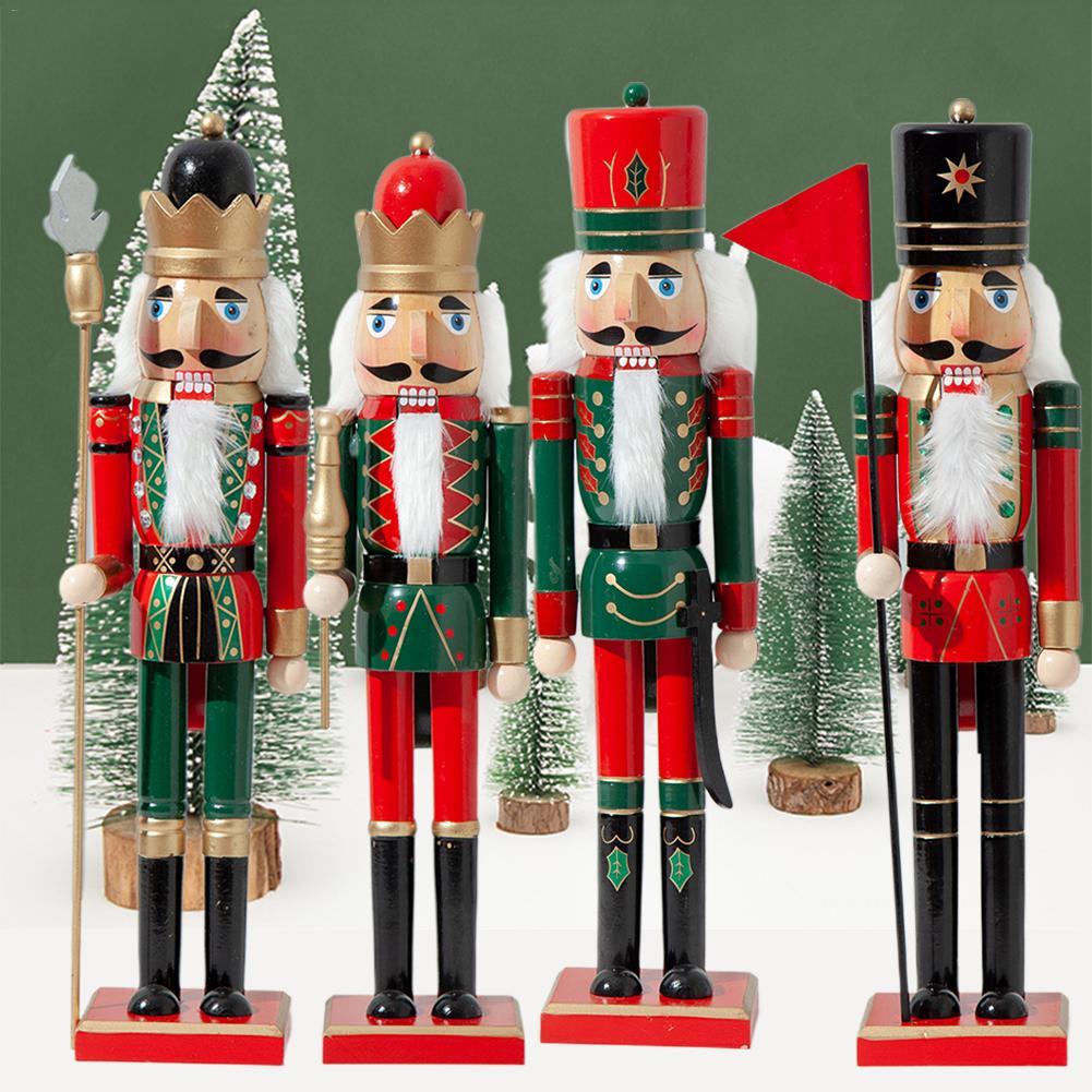 50 CM/38 CM Weihnachten Holz Nussknacker Soldat Schmuck Kinderzimmer Dekoration Ornament Weihnachten Geschenk Nussknacker Puppe