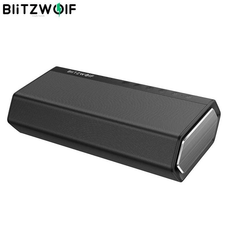 BlitzWolf BW-AS2 40 واط 5200 مللي أمبير محرك ثنائي سماعة لاسلكية تعمل بالبلوتوث المتكلم 30 واط مضخم صوت التصاعدي باس حر اليدين Aux في مكبر الصوت