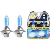 2 pçs 6000k super brilhante branco h7 halogênio bulbo 12 v farol do carro lâmpada h7 55w 100 halogênio lâmpada do farol do carro lâmpada de substituição