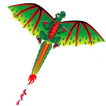 3D Dragon Kite zabawka dla dzieci zabawa na świeżym powietrzu aktywność latająca gra dla dzieci z ogonem zabawa dla dzieci zabawka dla dzieci rodzina Outdoor sportowe zabawki tanie i dobre opinie Poliester CN (pochodzenie) 3 lat Unisex Zwierząt Pojedyncze Not to swallow Children Gift Sports Toy Single Line Kites
