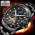Механические Мужские часы HAIQIN  Топ бренд  Роскошные военные спортивные наручные часы  многофункциональные часы с фазой Луны  relogio masculino