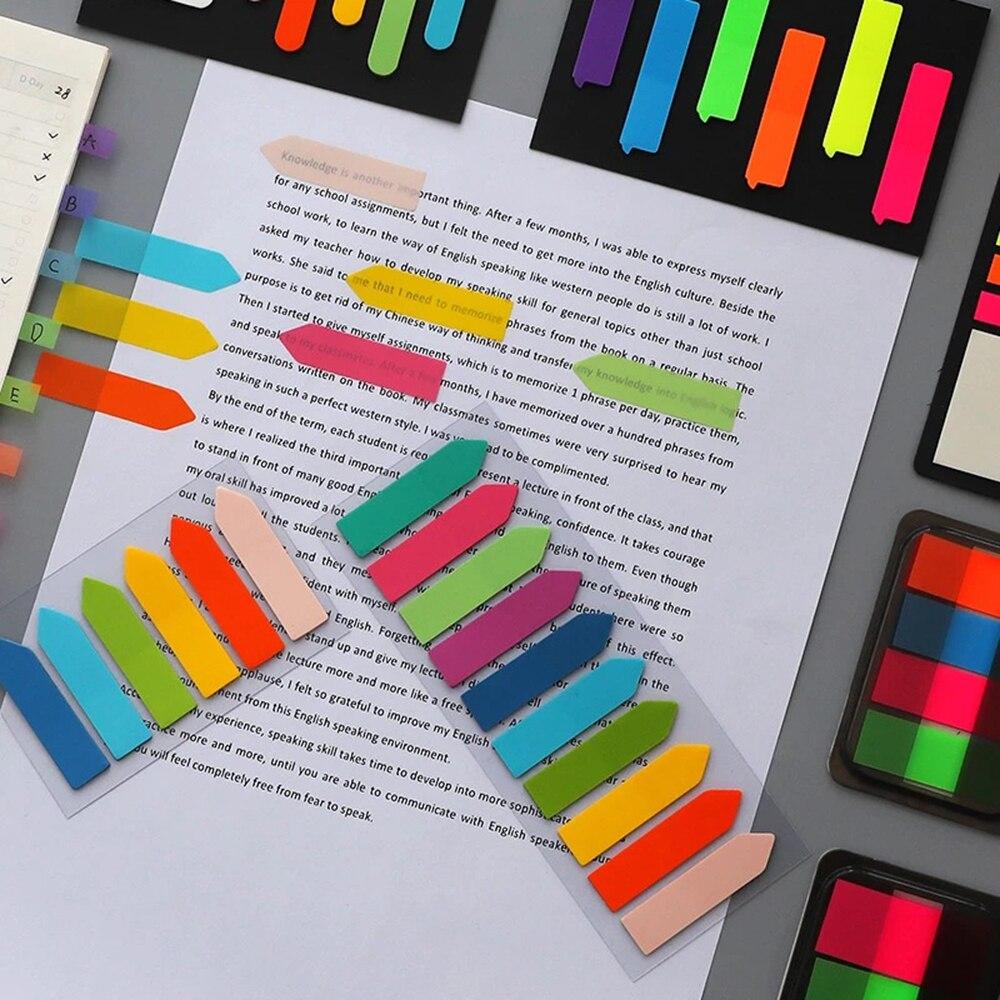 Флуоресцентные Липкие заметки, самоклеящиеся блокноты для записей, маркеры для записей, Стикеры для записей, бумага, офисные и школьные при...