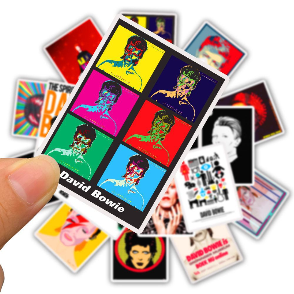 25pcs David Bowie Paster Collection 90s Decals Scrapbooking Kids Toy for DIY Phone Motorcycle Waterproof Stickers