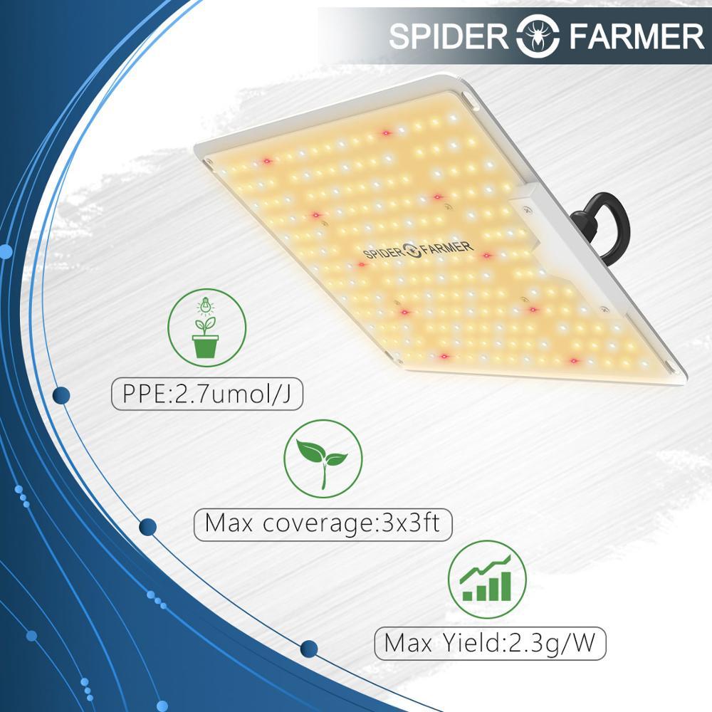 1000W Led Grow Light Lamp For Plants Full Spectrum Quantum Board Flowers Seedling  Spider Farmer Samsung LM301B Meanwell Driver