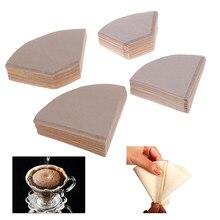 100 шт. экологически чистый неотбеленный оригинальный деревянный ручной капельный бумажный мешок для заварки кофе фильтр для кофе аксессуар...