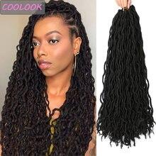 Афро богиня искусственные локоны в стиле crochet волос 18''ombre