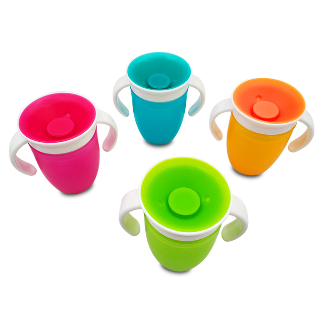 360 Degrees Can Be Rotated Baby Learning Drinking Cup With Double Handle