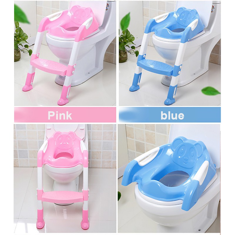 Baby PP Material Foldable Reusable Smooth Useful Anti-Slip Adjustable Trainer Seat Toilet Training Seat Step Stools Solid Color