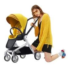 Wózek dziecięcy może siedzieć w rozkładanym składanym dwukierunkowym lekkim wózku dziecięcym tanie tanio CN (pochodzenie) Numer certyfikatu