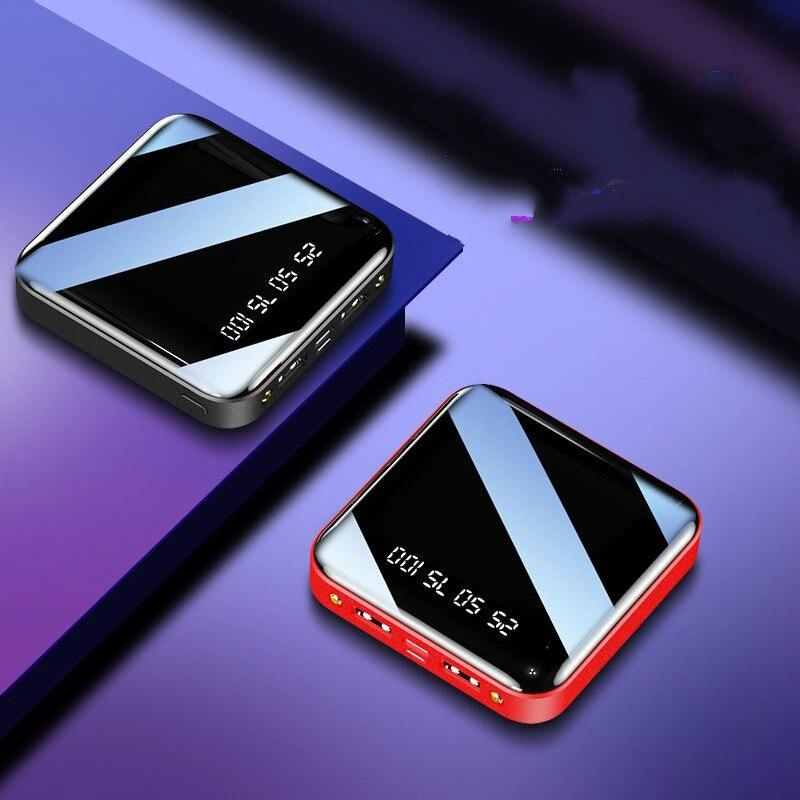 Mi ni power bank 20000 mah para o iphone x xiao mi powerbank pover banco carregador duplo usb portas de bateria externa poverbank portátil