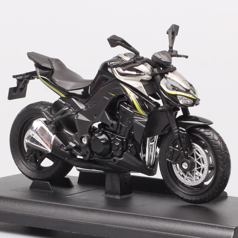 Kid's 1/18 Scale Welly Small 2017 Kawasaki Z1000R Streetfighter Vehicles Motorcycle Bike Racing Diecast Model Toy Car Miniatures