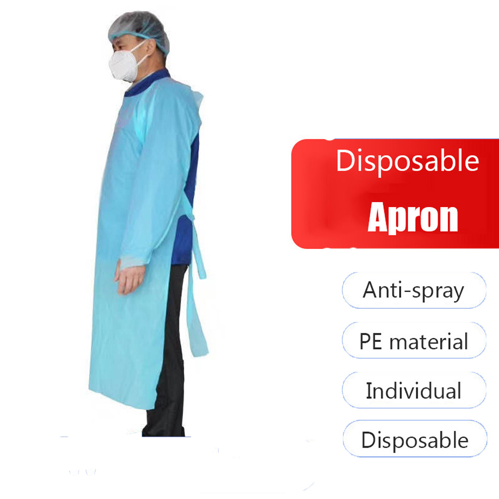 High Quality CPE Isolation Disposable  Plastic Waterproof Oil Proof Thumb Buckle Sleeve Apron Practical Cleaning Tools