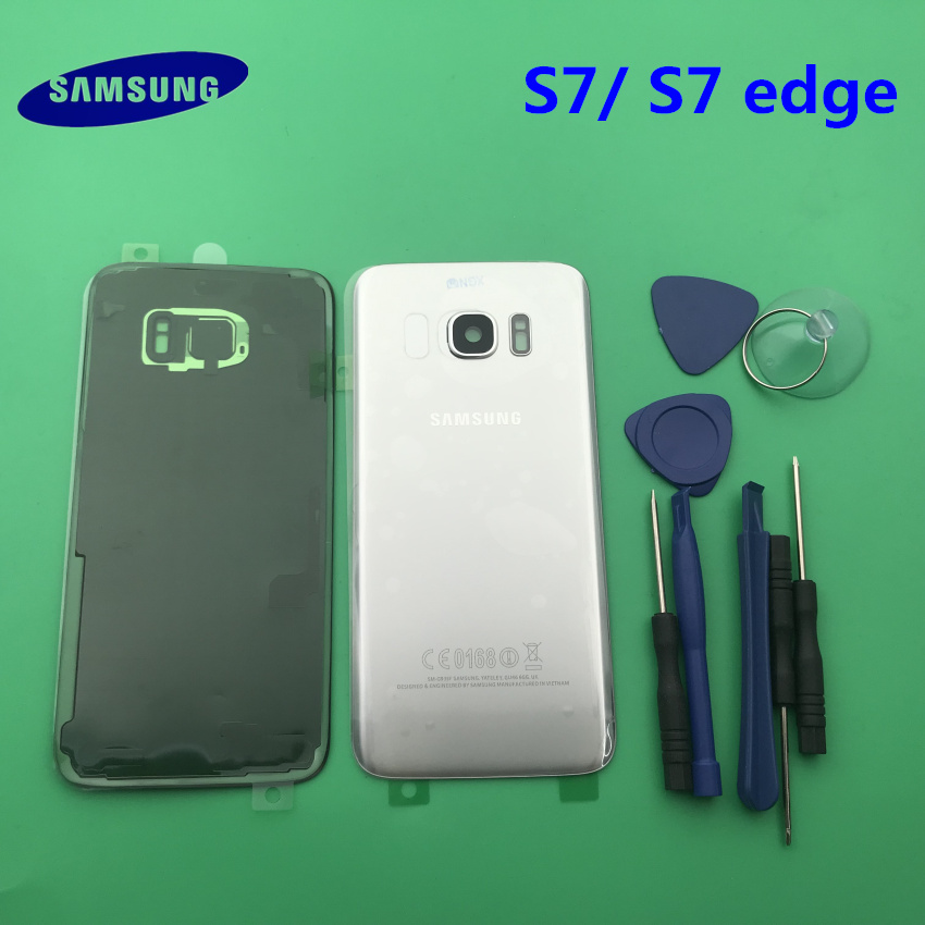 Replacement Original new Rear Panel Battery Glass Back Door Cover Samsung Galaxy s7 G930 S7 edge G935 G935F/A/P/T+tool