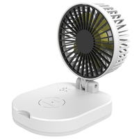 10000 mah novo usb pequeno ventilador dobrável portátil de energia móvel mini ventilador sem fio carregador carregamento tesouro ventilador