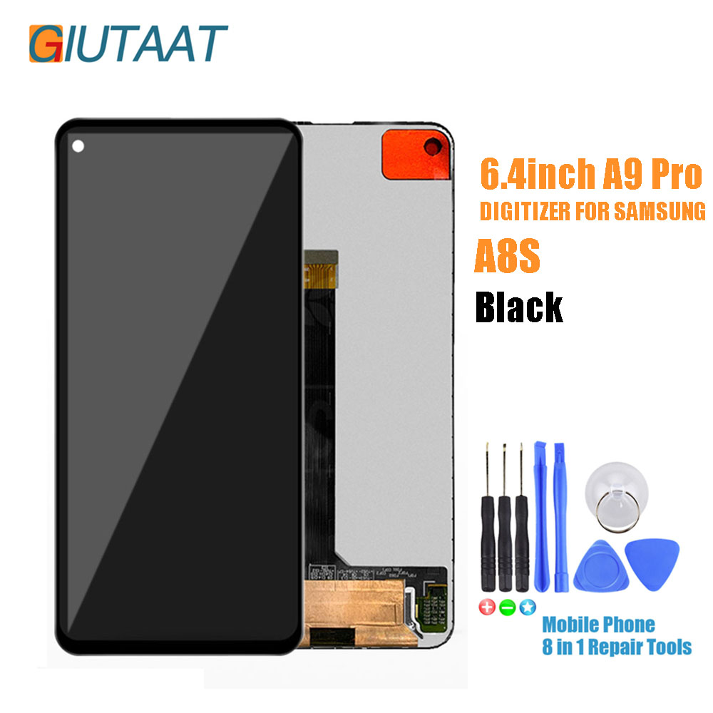 Touch Screen Digitizer Panel LCD Display Assembly for Samsung Galaxy A9 Pro 2019 6.4 LCD Replacement For A8S LCD G8870 SM-G887FZ