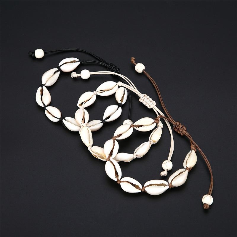Bohemian Trendy Natural Seashell Handmade Bracelet For Women Shell Bracelets Beaded Strand Bracelet Charm Jewelry Gift Whlesale(China)