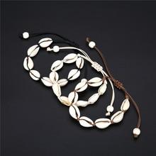 Bohemian Trendy Natural Seashell Handmade Bracelet For Women Shell Bracelets Beaded Strand Bracelet Charm Jewelry Gift Whlesale